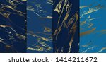 luxury navy and blue marble... | Shutterstock .eps vector #1414211672