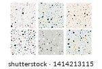 terrazzo flooring seamless... | Shutterstock .eps vector #1414213115