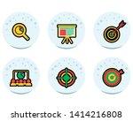 target icon set  modern flat...