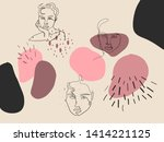 cute modern abstract texture ... | Shutterstock .eps vector #1414221125
