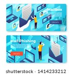 vector email box new message... | Shutterstock .eps vector #1414233212