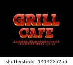 vector chic emblem grill cafe.... | Shutterstock .eps vector #1414235255