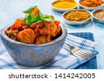 bombay aloo   indian spiced...   Shutterstock . vector #1414242005