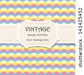 vintage frame template... | Shutterstock .eps vector #141425452