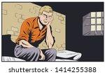 stock illustration. male in...   Shutterstock .eps vector #1414255388