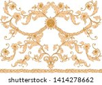 seamless pattern  background in ... | Shutterstock .eps vector #1414278662