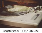 vintage record player with... | Shutterstock . vector #1414282022