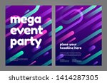 template design with dynamic... | Shutterstock .eps vector #1414287305