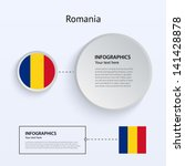 romania country set of banners...