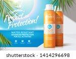 sun spray ads on white balcony... | Shutterstock .eps vector #1414296698
