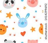 seamless vector pattern. cute... | Shutterstock .eps vector #1414299692