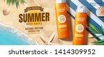 sunscreen spray ads on... | Shutterstock .eps vector #1414309952