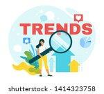 analyst forecasting future... | Shutterstock .eps vector #1414323758