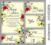 wedding invitation  thank you... | Shutterstock .eps vector #141432856