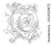 decorative elements in baroque  ... | Shutterstock .eps vector #1414329872