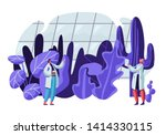 botanist scientists in... | Shutterstock .eps vector #1414330115