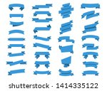 blue ribbons banners. ribbon... | Shutterstock .eps vector #1414335122