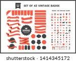 vintage retro vector for banner ... | Shutterstock .eps vector #1414345172