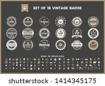 vintage retro vector for banner ... | Shutterstock .eps vector #1414345175