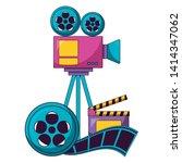 projector reel strip film...   Shutterstock .eps vector #1414347062