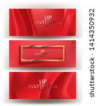 invitation cards with red... | Shutterstock .eps vector #1414350932