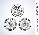 big metal round shape groove...   Shutterstock .eps vector #1414354418