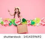 portrait of cute little girl in ... | Shutterstock . vector #1414359692