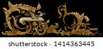 antique style gold flowers ... | Shutterstock . vector #1414363445