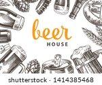 beer background.  linear...   Shutterstock .eps vector #1414385468