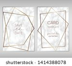 wedding invitation card design... | Shutterstock .eps vector #1414388078