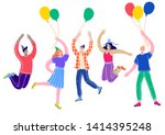 young people celebrating ...   Shutterstock .eps vector #1414395248
