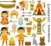 Clip Art Set With Cute Native...