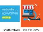 shop business concept   shop... | Shutterstock .eps vector #1414410092