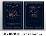 set of geometric christmas... | Shutterstock .eps vector #1414411472