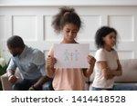 Sad African American School...