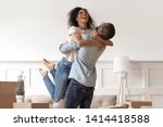 African Husband Lifting Happy...