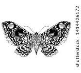 beautiful butterfly pattern... | Shutterstock . vector #1414426172