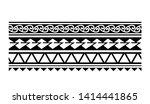 tribal pattern tattoo ... | Shutterstock .eps vector #1414441865