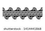 tribal pattern tattoo ... | Shutterstock .eps vector #1414441868
