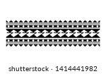 tribal pattern tattoo ... | Shutterstock .eps vector #1414441982