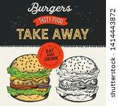 burger illustration for... | Shutterstock .eps vector #1414443872