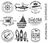 set of sailing camp  yacht club ... | Shutterstock .eps vector #1414456415