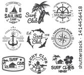 set of sailing camp  yacht club ... | Shutterstock .eps vector #1414456418