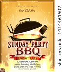 bbq party invitation template...   Shutterstock .eps vector #1414461902