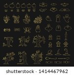 halloween collection of gold...   Shutterstock .eps vector #1414467962