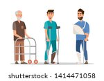 set of sick people feeling... | Shutterstock .eps vector #1414471058