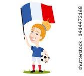 women's football  female player ...   Shutterstock .eps vector #1414472168