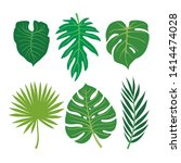 collection of vector tropical... | Shutterstock .eps vector #1414474028