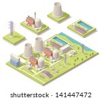 vector isometric nuclear power... | Shutterstock .eps vector #141447472