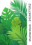 trendy summer tropical leaves... | Shutterstock .eps vector #1414477352